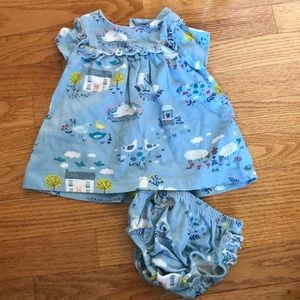 Baby Boden Mini Boden 0-3 Month Dress with Cover